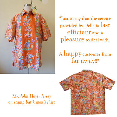 peranakan men batik shirt baba stamp orange singapore