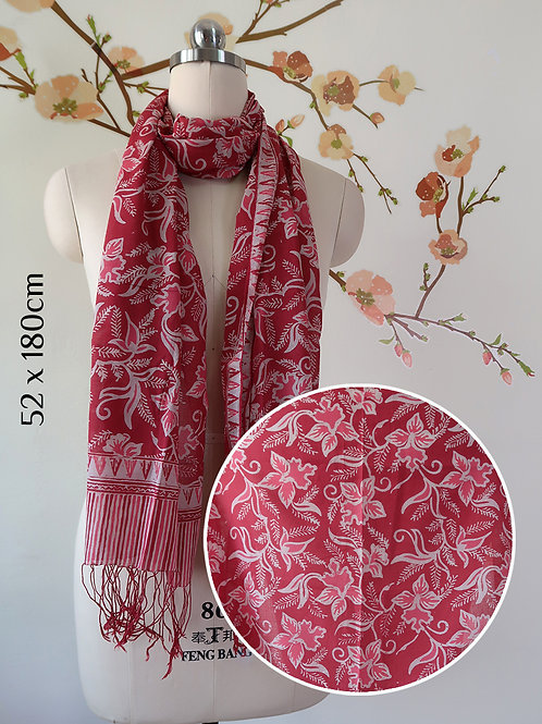 Cotton Scarf Orchid Red (Medium)