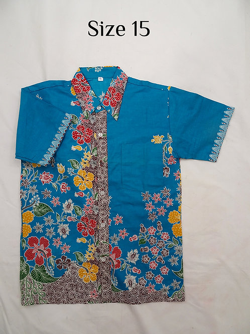 Boy Batik Shirt.  size 15