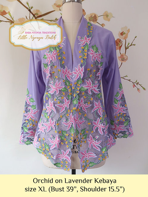 Lux: Orchid on Lavender Kebaya (XL)