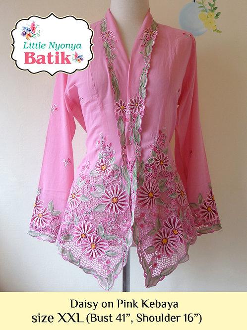 H: Daisy in Pink Kebaya. Size XXL