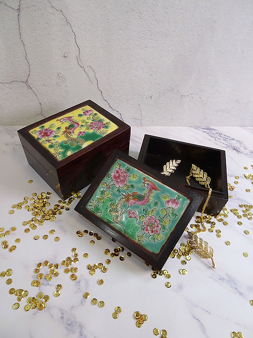 Rosewood Porcelain Jewellery Box