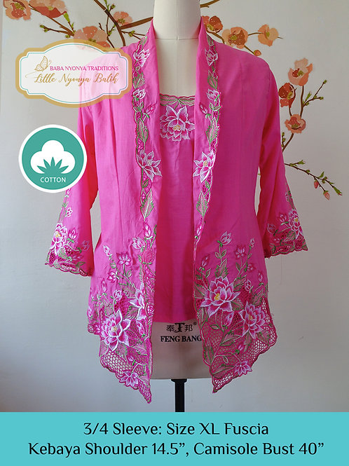 3/4 Sleeve with Camisole Fuscia (XL)
