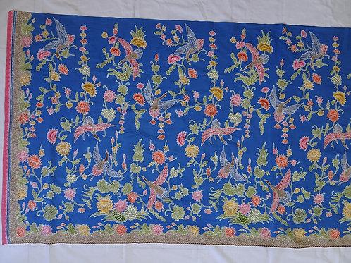 Kain Panjang (Hip Wrap) Crane in Blue