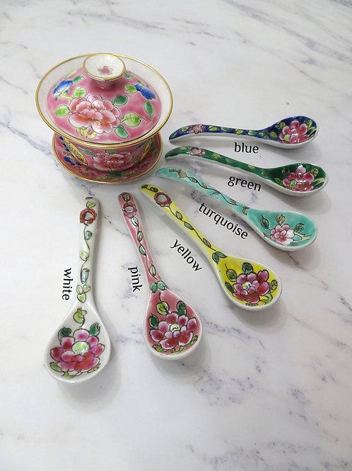 Dessert Spoon Flower 5pcs Assorted Color