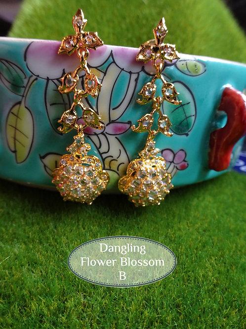 Earring Vintage Style Flower Blossom B