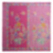 peranakan batik sarong bird butterfly pink singapore