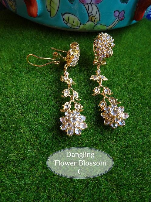 Earring Vintage Style Flower Blossom C