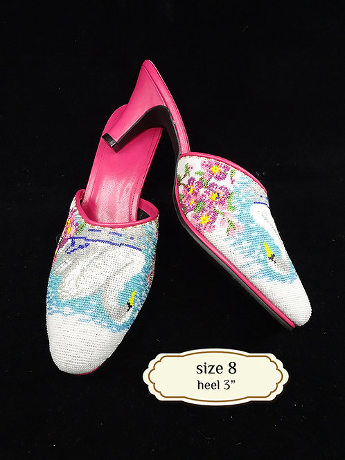 Cover Swan Micro Beaded Shoe. size 8 or 38