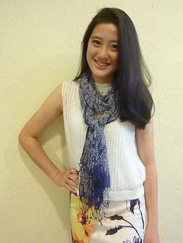 peranakan batik scarf silk handmade singapore
