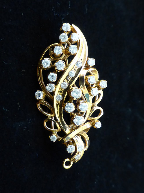 Vintage: Flower Bouquet Brooch with diamond 18k