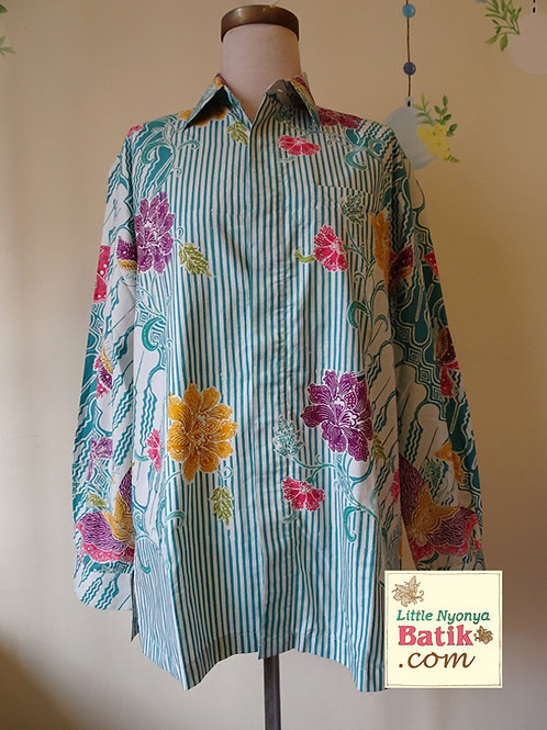 SBML: Butterfly Turquoise on cotton. No Lining. size M
