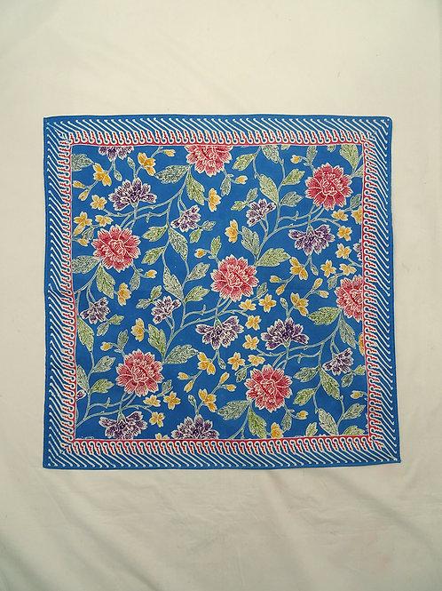 Extra Large Hankie/Napkin Flower Sky Blue