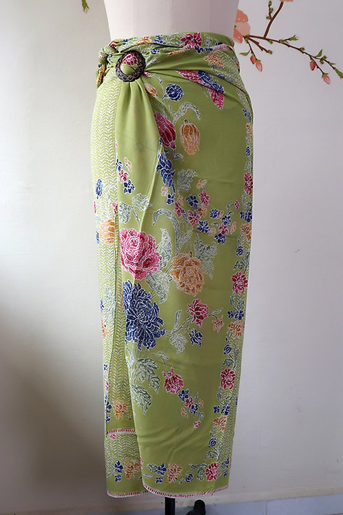 Rayon Sarong Chartreuse
