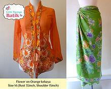 peranakan orange nyonya kebaya green sarong batik singapore