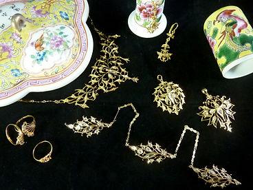 peranakan jewellery earring fashion clip singapore