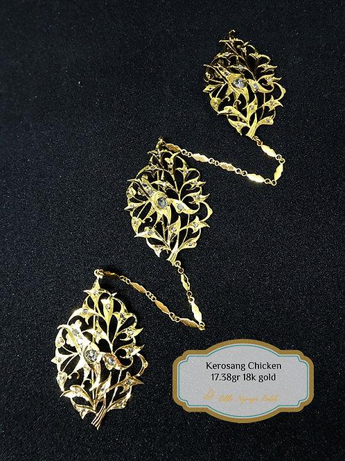 Vintage: Kerosang Chicken 18k gold