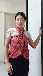 handmade cotton scarf red