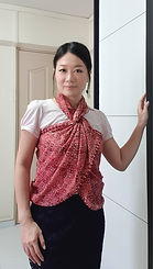 handmade cotton scarf red
