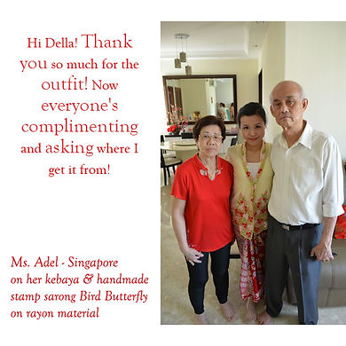 peranakan yellow kebaya red batik sarong singapore nonya nyonya