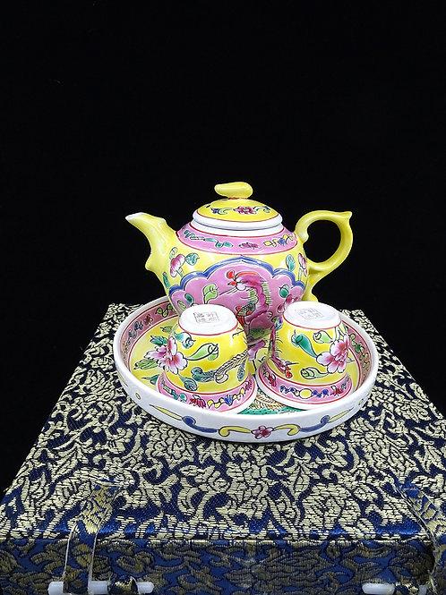 Mini Tea Set Yellow in Box