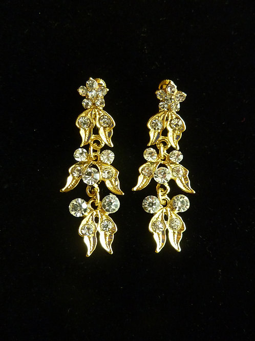 Peranakan Clip Earring Vintage Style Mini