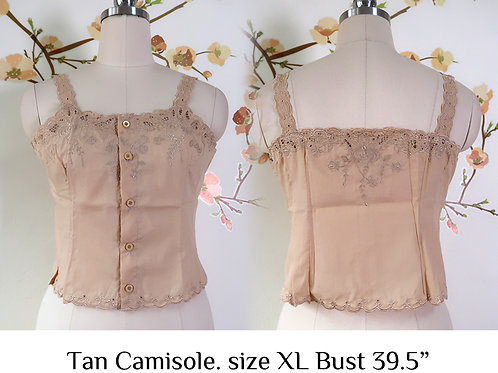 Tan Chrysanthemum Camisole size XL