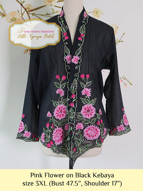 B: Pink Flower in Black Kebaya. Size 3XL