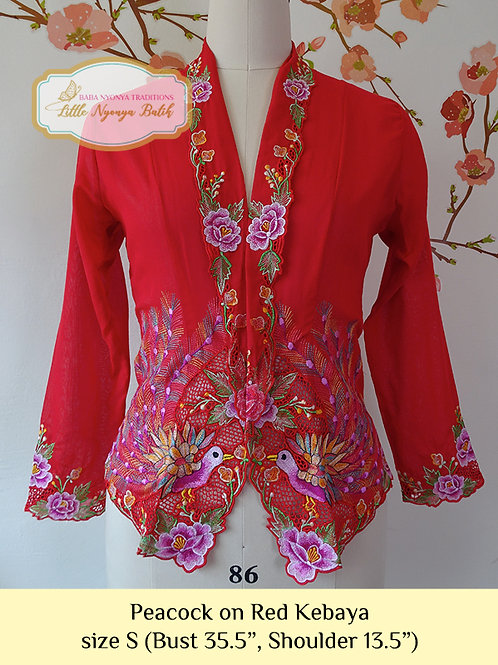 C: Peacock in Red Kebaya. size S