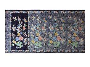 peranakan batik sarong singapore bird butterfly black