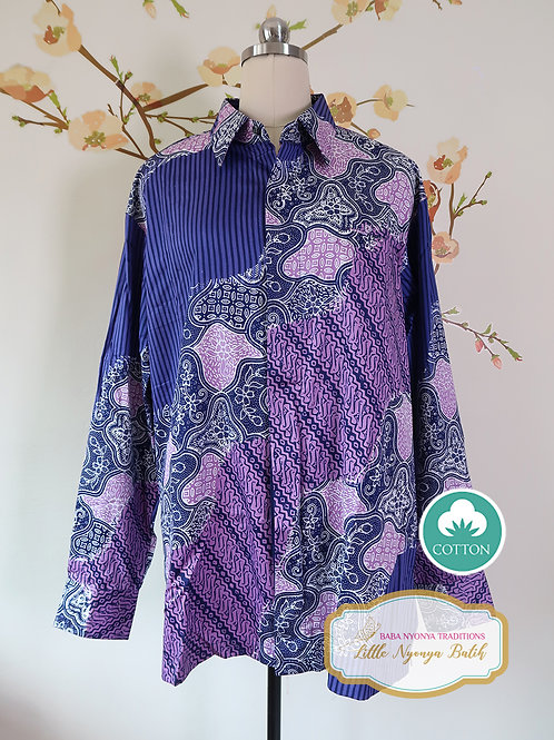 SBML: Traditional Purple on Silky Cotton Sateen. No Lining. Size XL