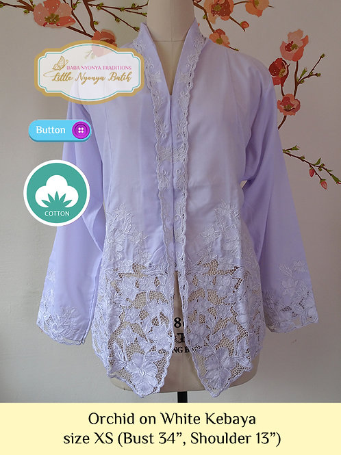 B: White Orchid in White Kebaya. size XS
