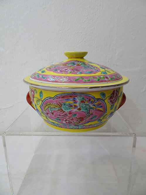 Bowl with Cover Yellow
