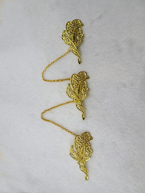 Kerosang Gold Leaves D