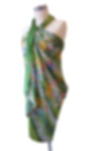 peranakan sarong batik rayon modern green singapore