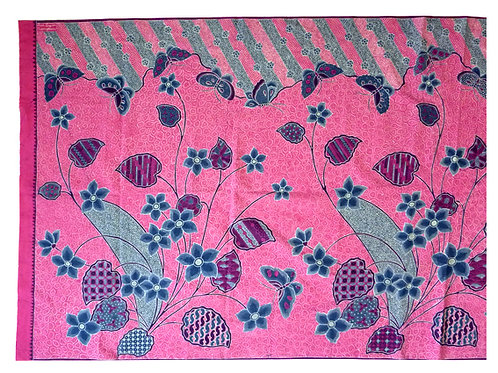 Hip wrap modern motif: Butterfly Flower on Pinkalicious
