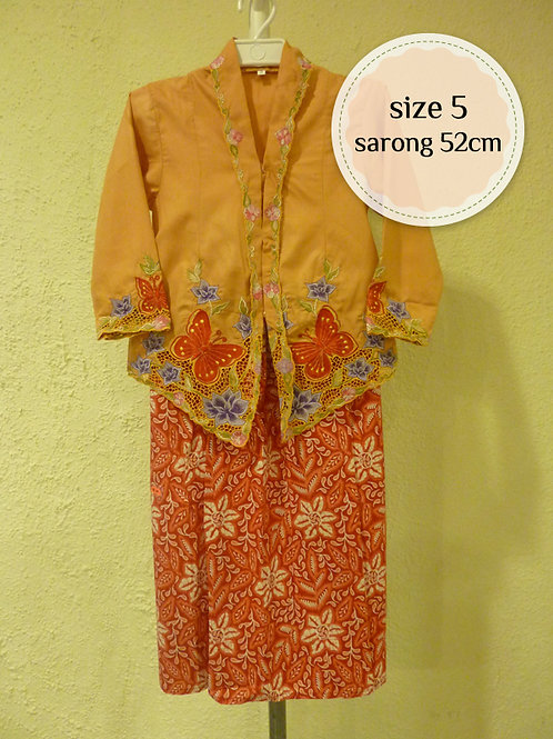 size 5. Cotton Butterfly Yellow