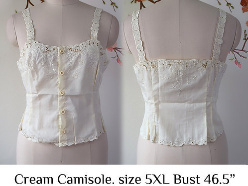 Cream Chrysanthemum Camisole size 5XL B