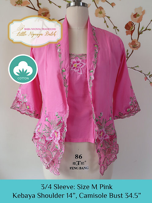 3/4 Sleeve with Camisole Pink (M)