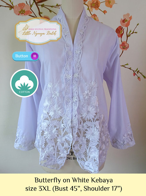 B: Butterfly in White Kebaya. size 3XL