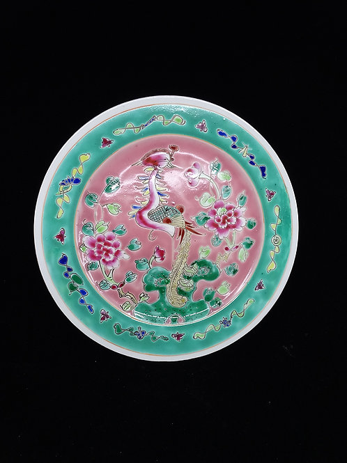 Phoenix Porcelain Flat Plate Phoenix Pink
