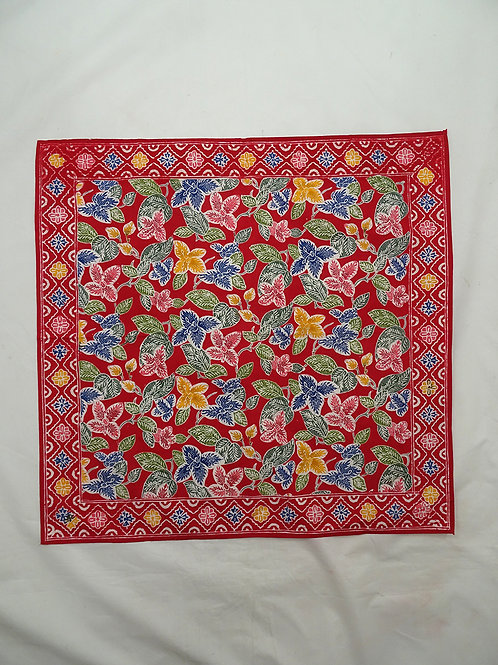 Extra Large Hankie/Napkin Red Small Flower A