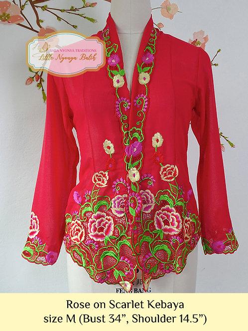 B: Roses in Scarlet Red Kebaya. size M