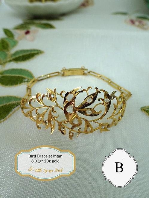 Vintage: Gold Bracelet Bird Intan (B) 20k gold