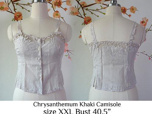 Khaki Chrysanthemum Camisole size XXL B