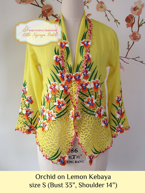 Lux: Orchid on Lemon Kebaya (S)