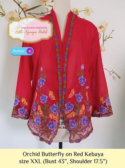 B: Orchid Butterfly in Red Kebaya. size XXL