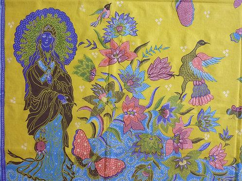 Chinese: hand drawn Guanyin Bright Yellow
