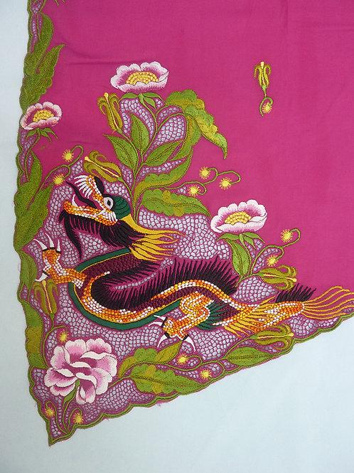 Dragon Kebaya material on Fuscia