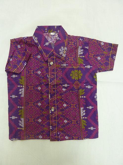 Boy Geometric Purple. size 2